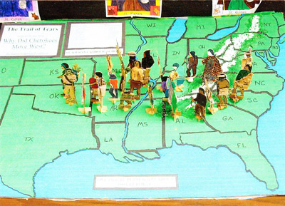 St. Kieran class map of Cherokee Trail of Tears